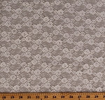 Lace Ivory Small Allover Floral Pattern 60