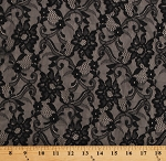Lace Black Floral Paisley Design 60