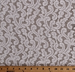 Lace Ivory Open Lace with Swirl Design Slight Sheen 60