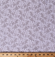 Lace Off-White Tightly Woven Floral Leaf Pattern 54