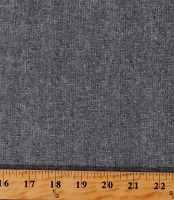 Linen Cotton Blend Essex Yarn Dyed Black/Charcoal Gray 43