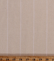 Woven Pinstripe Monk's Cloth Needlepoint Needlecraft Natural with White Stripe 60