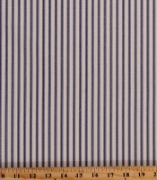 Ticking Stripe Blue on Natural 54
