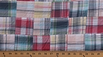 Cotton Plaid Patchwork Pink Blue Yellow 44
