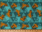 Flannel The Lion King Friends Simba Lions Cubs Disney Characters on Teal Green Cotton Flannel Fabric Print by the Yard (67119-ZJ50710)