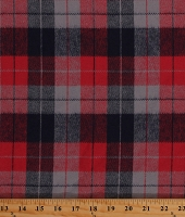 Flannel Plaid Red Navy Gray Durango Flannel Fabric Print by the Yard (SRKF-17141-202AMERICANA)