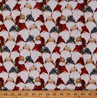 Flannel Gnomes Allover Snowman Snowmen Christmas Winter Holiday 2-Ply Cotton Flannel Fabric Print by the Yard (9271-89)