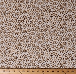 Cotton Horseshoes Allover Southwestern Western Cowboys Cowgirls Ranch Equestrian Cotton Fabric Print by the Yard (1649-26606-E)