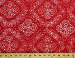 Cotton Batik Red Floral Design Flowers Hand Dyed Cotton Fabric Print by the Yard (823-Q)