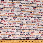 Cotton American Patriotic Independence Day Constitution We The People Beige Cotton Fabric Print by the Yard (52590-1)