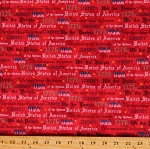 Cotton American Patriotic Independence Day Constitution We The People Red Cotton Fabric Print by the Yard (52590-3)