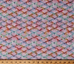 Cotton Butterflies Butterfly Insects Bugs Allover on Pink Papillon Parade Nature Cotton Fabric Print by the Yard (B-9367-22)