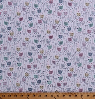 Cotton Alpaca Llama Animals Flowers Floral Kids Cotton Fabric Print by the Yard (STELLA-1047-WHITE)