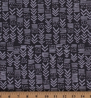 Cotton Hoffman Challenge 2019 Me + You Indah Batik Pewter Gray Geometric Cotton Fabric by the Yard (123-76-PEWTER)