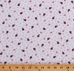 Ladybugs Ladybug Flowers Floral Cotton Jersey Knit Fabric Print By the Yard D346.08