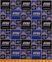 **New*** COTTON Grand Valley State University GVSU Lakers Royal Blue College Team Cotton Fabric Print (gvsu020-royal) D354.15