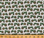 Cotton Tractors Farm Farmers Agriculture Cotton Fabric Print by the Yard (10194-40)