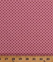 Cotton Hearts Valentines Pink Red Hello Sweetheart Love Cotton Fabric Print by the Yard (C7624-PINK)