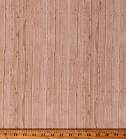 Cotton Barn Wood Wooden Boards Floorboards Planks Timber Lumber Building Wall Carpenter Carpentry Cotton Fabric Print by the Yard (51403-1)