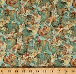 Cotton Boho Elephants Multicolor Bohemian Dreams Cotton Fabric Print by the Yard (1077-89192-573)