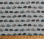 Cotton Antique Cars Classic Vintage Retro Vehicles Hot Rods Trucks Old Guys Rule Transportation Blue Cotton Fabric Print by the Yard (AOD-18319-A BLUE)