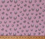 Cotton Sheep Wooley Sheep on Pink Farm Animals Country Cotton Fabric Print by the Yard (AUK-17632-10 PINK)