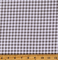 Cotton Gray and White Plaid Checks Cotton Fabric Print by the Yard (PLAID-C5576-SLATE)