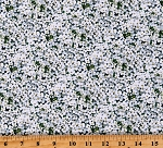 Cotton Flowers Garden Floral Springtime Landscape Medley White Cotton Fabric Print by the Yard (609WHITE)