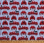 Cotton Patriotic 4th of July Dogs Trucks America Independence Day Americana Stars Travel Truckin' in the USA Cotton Fabric Print by the Yard (4999-18)