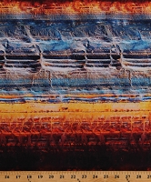 Cotton Deserts Textures Orange Blue Landscapes Nature Cotton Fabric Print by the Yard (R4679-193-DESERT)