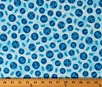 Cotton Thomas Trains Tickets Blue Circles Engines Thomas the Train Cotton Fabric Print by the Yard (84246)