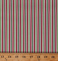 Cotton Christmas Red Green White 1/8