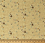 Cotton Bees Honeybees Words Quotes Beehives All About the Bees Yellow Cotton Fabric Print by the Yard (2426-44)