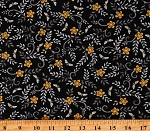 Cotton Bees Honeybees Flowers Floral Bee Grateful Black Cotton Fabric Print by the Yard (19964-15)