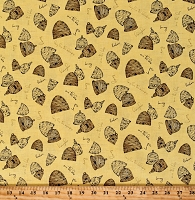 Cotton Bumble Bees Bumblebees Beehives Save the Bees Honeybees Honey Bee's Life Yellow Cotton Fabric Print by the Yard (C10101-HONEY)