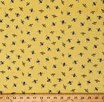 Cotton Bumble Bees Bumblebees Honeybees All Over Bee's Life Yellow Cotton Fabric Print by the Yard (C10103-HONEY)