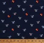 Cotton Tiny Dragons Medieval Fairytale Fantasy on Navy Magic Dragon Cotton Fabric Print by the Yard (CX7902-MIDN-D)