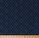 Cotton Southwestern Geometric Diamonds Southwest Agave Blue Cotton Fabric Print by the Yard (P7574 19 NAVY)