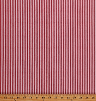 Cotton Down on the Farm Digital Red Stripes on Cream Cotton Fabric Print by the Yard (AGBD-18816-3RED)