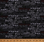 Cotton Christmas Words Sayings Winter Holiday Skiing Lodge Winter Playground Cotton Fabric Print by the Yard (Y2767-3BLACK)