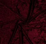 Premium Crushed Panne' Stretch Velvet Burgundy 58