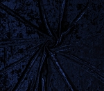 Premium Crushed Panne' Stretch Velvet Navy Blue 58