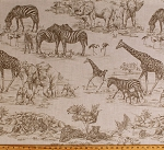 African Safari Wild Animals Sketches Tigers Elephants Zebras Giraffes 52