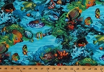 Cotton Tropical Sea Coral Reef Marine Life Fish Fishes Ocean Water Cotton Fabric Print by the Yard (REEF-C2697-MULTI)