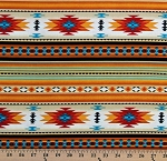Cotton Southwestern Tuscon Gold Aztec Cotton Fabric Print by the Yard (201GOLD)