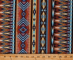 Cotton Southwestern Tucson Tribal Patterned Striped Cotton Fabric Print by the Yard (WEST-C8423-MULTI)