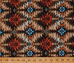 Cotton Southwestern Tuscon Tribal Patterned Cotton Fabric Print by the Yard (WEST-C8428-MULTI)