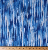 Cotton Pearly Icicles Ice Metallic Winter's Pearl Cobalt Blue Landscape Cotton Fabric Print by the Yard (7754P-55)