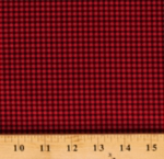 Cotton Red and Black Gingham Check 1/10