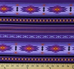 Cotton Southwestern Tuscon Purple Aztec Cotton Fabric Print by the Yard (201PURPLE)